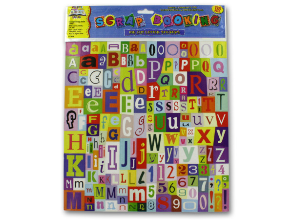 Large set die-cut letter stickers