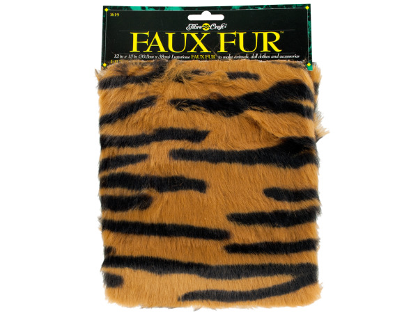 Faux Tiger Fur