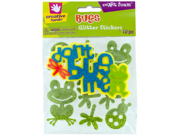 Foam Bugs Glitter Stickers