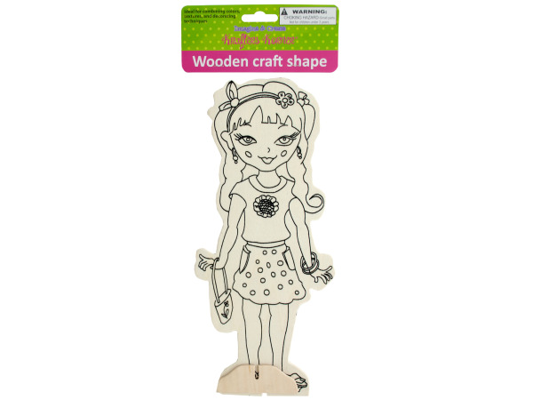 Wooden Girly Craft Shape