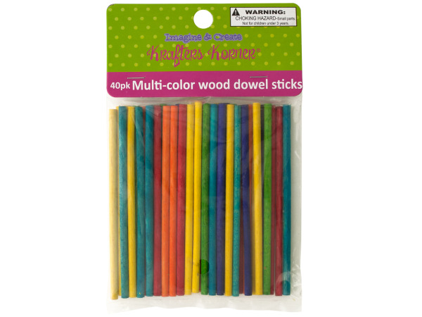Multi-color Wood Dowel Sticks