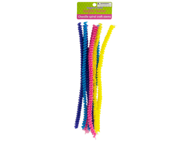 Chenille Spiral Craft Stems