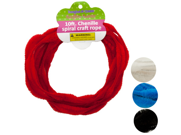 Chenille Spiral Craft Rope