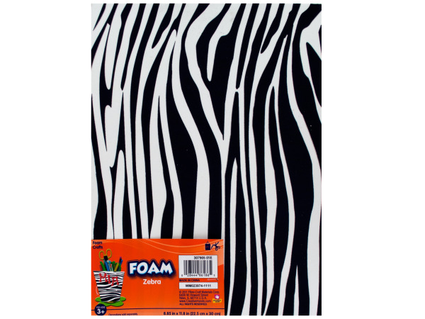 Zebra Print Foam Craft Sheet
