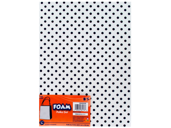 Polka Dot Print Foam Craft Sheet