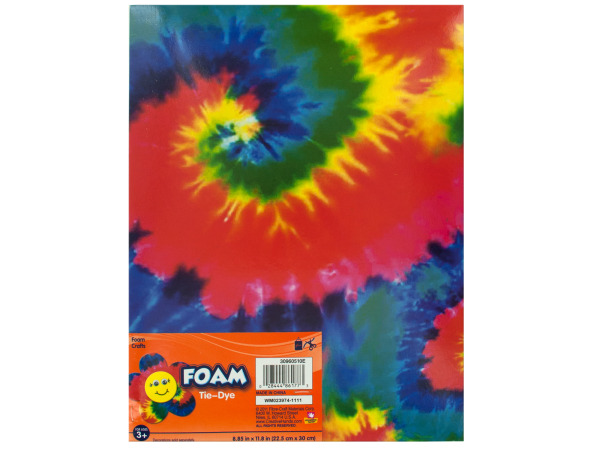 Tie Dye Foam Craft Sheet