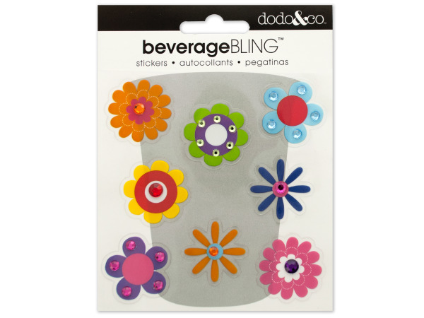 Blossoms Beverage Bling Stickers