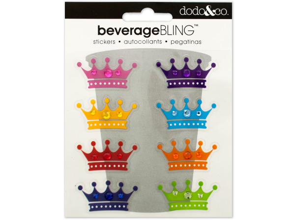 Crowns Beverage Bling Stickers