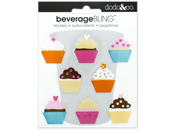 Cupcakes Beverage Bling Stickers