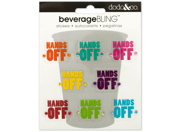 'Hands Off' Beverage Bling Stickers