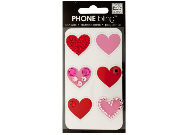 Little Hearts Phone Bling Removable Stickers