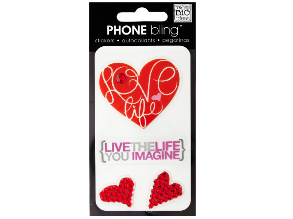 Love Life Phone Bling Removable Stickers