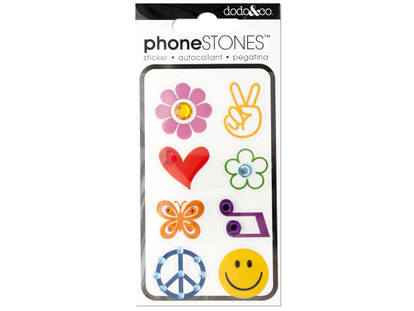 Peace and Love Phone Stones Stickers