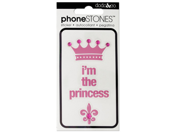 I'm the Princess Phone Stones Stickers