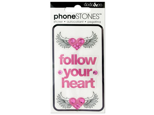 Follow Your Heart Phone Stones Stickers
