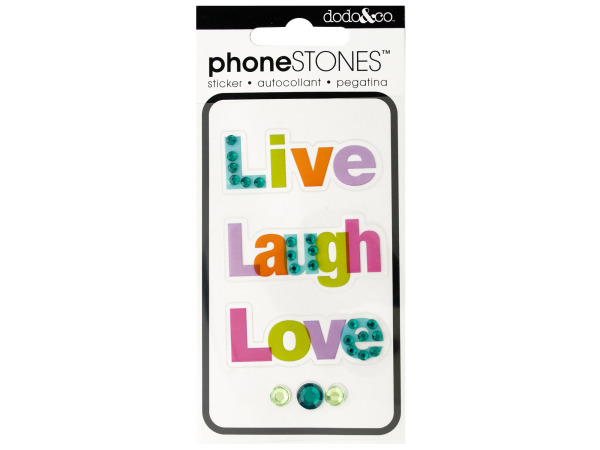 Live Laugh Love Phone Stones Stickers