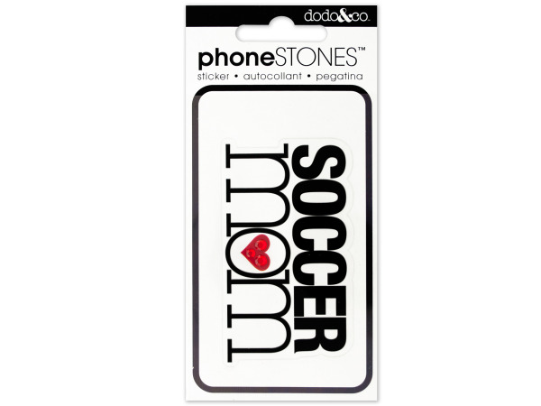 Soccer Mom Phone Stones Sticker