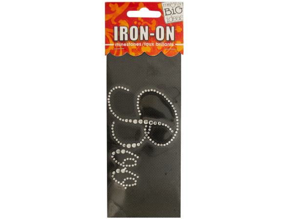 'Boo' Rhinestone Iron-On Transfer