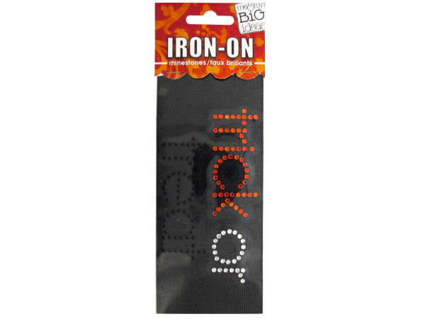 'Trick or Treat' Rhinestone Iron-On Transfer