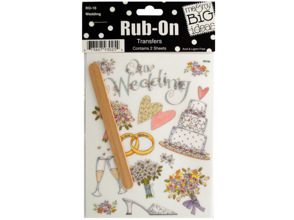 Wedding Rub-On Transfers