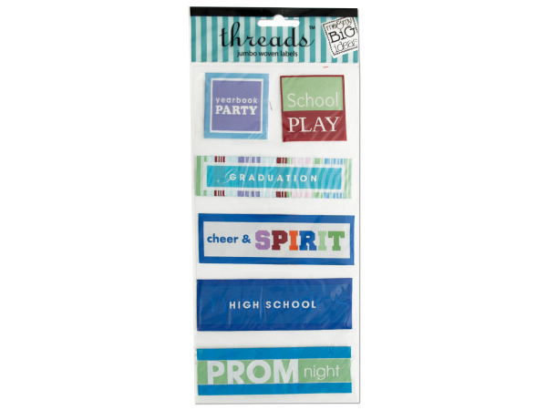 High School Jumbo Woven Labels
