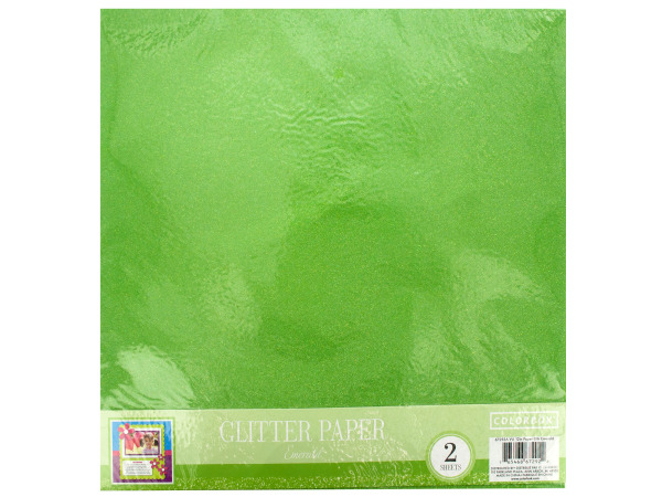 Emerald Glitter Craft Paper