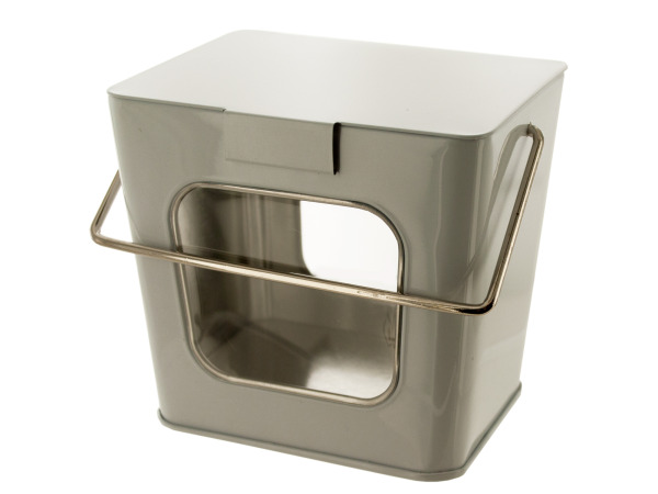 White Tin Take Out Box with Acetate Windows