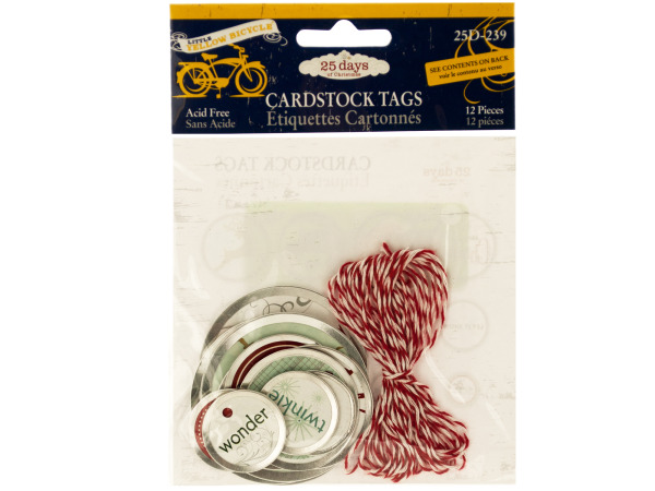 25 Days of Christmas Cardstock Tags