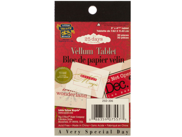 25 Days of Christmas Vellum Tablet