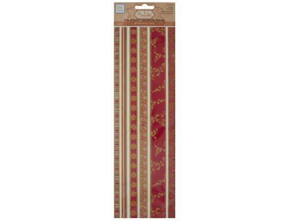 Reds Decorative Fabric Borders Stickers