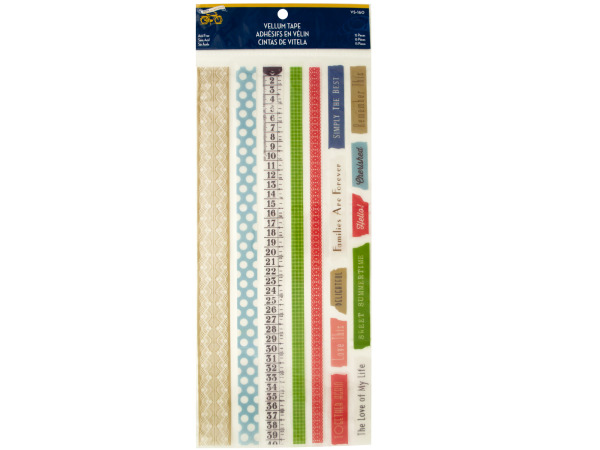 Sweet Summertime Vellum Tape Strips