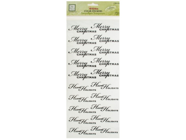 Christmas Greetings Clear Cardmaking Stickers