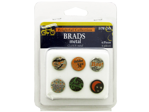 Frightful Collection Halloween Metal Brads