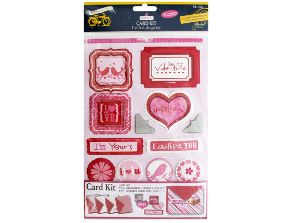 Sweet Love Card Kit with Glitter Accents