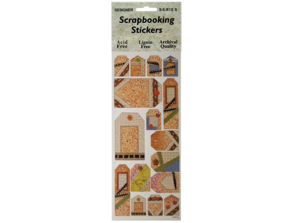 Corkboard Decorative Tags Scrapbooking Stickers