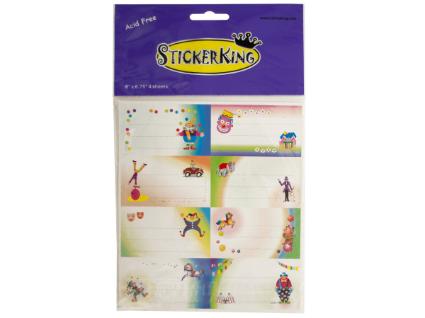 Circus Fun Memo Stickers