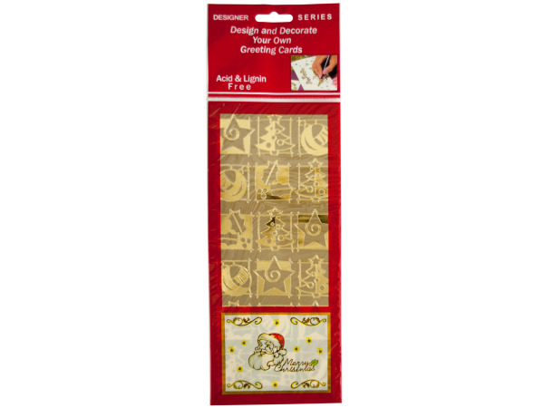 Holiday Symbols Gold Foil Stickers