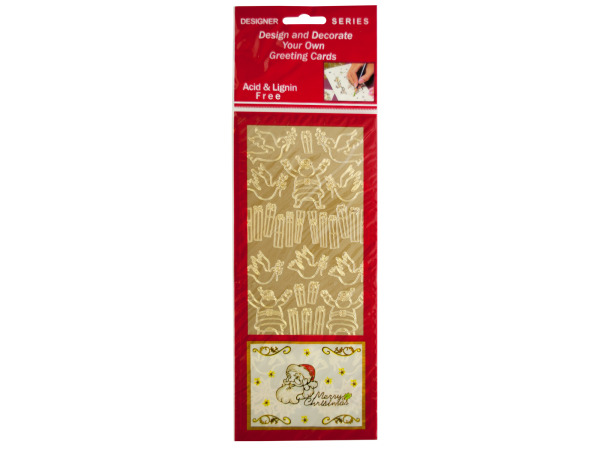 Christmas Symbols Gold Foil Stickers