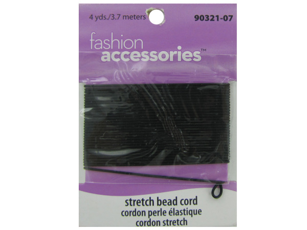Black stretch cord, 4 yards