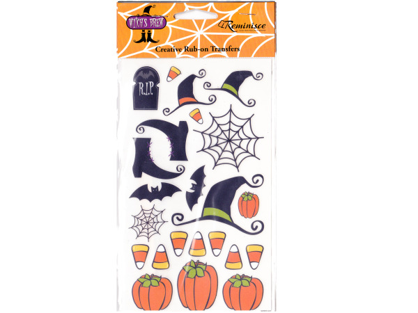 Witch's Brew Icon Creative Rub-on Transfers