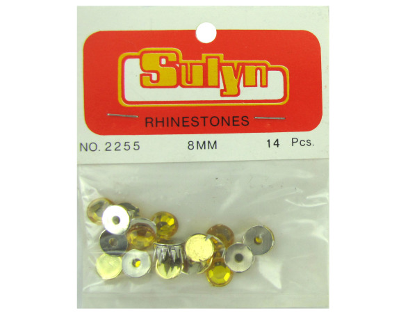 Gold rhinestones, pack of 14