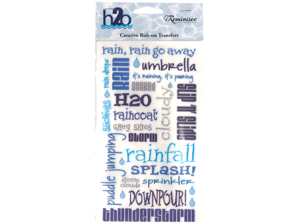 Rain Creative Rub-on Transfers
