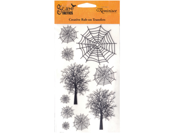 Spooky Trees Creative Rub-on Transfers