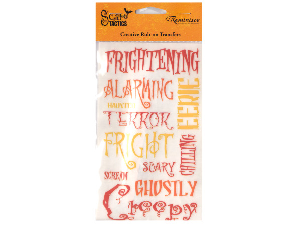 Scare Tactics Color Creative Rub-on Transfers
