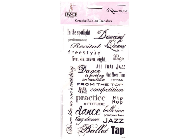Dance Phrase Creative Rub-on Transfers