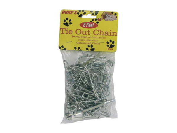 Tie-out dog chain