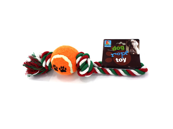 Dog tug rope with ball