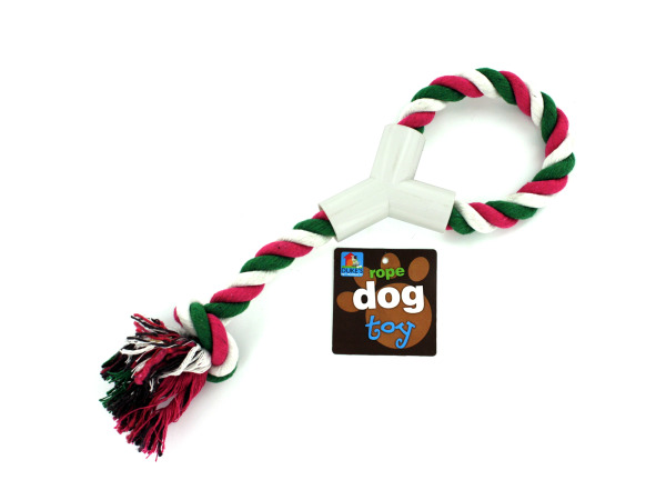 Rope toy with hand grip