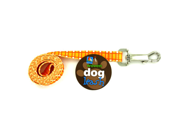 Dog Leash with Plaid Print