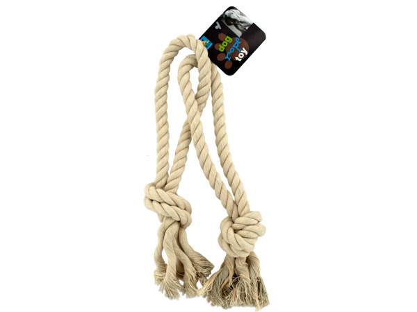 Interlocking rope dog toy